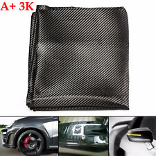 Real 3K Twill Weave Plain Carbon Fiber Cloth Shiny Smooth Fabric 127x91cm