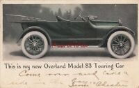 Postcard Car New Overland Model 83 Touring Car 1915