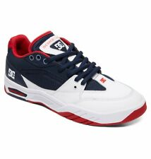 Tg 42 - Scarpe Uomo Skate DC Shoes Maswell Navy White Red Sneakers Schuhe 2019