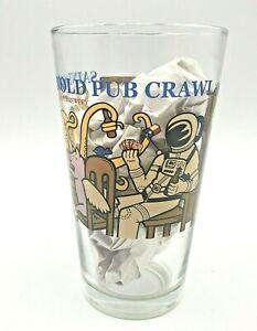 Saint Arnold Pint Beer Glass Pub Crawl Astronaut Octopus Flying Pig Poker