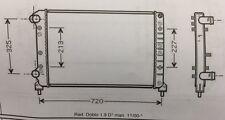 Fiat Doblo Radiator 00-> (Core 642 x 415 x 30)