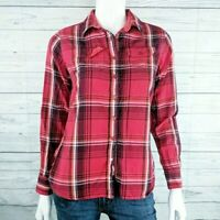 Kuhl Red Cotton Plaid Lined Button Front Top Women's X-Small