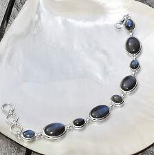 Labradorit Armband, 925er Silber, Edelstein Armband (A399), Edelsteinschmuck