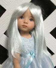 "Doll Wig, Monique Gold ""Misty"" Size 6/7 Light Blue"