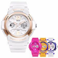 Women Girls Digital Sport Luminous Analog Quartz Waterproof LED Watch Alarm Gift