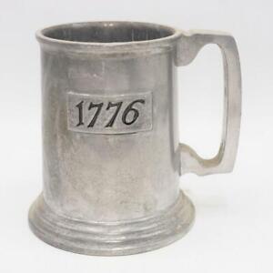 Vintage Duratale by Leonard Pewter Mug 1776 Bicentennial Silver Beer Stein
