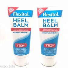 Flexitol Heel Balm Moisturizer & Exfoliator Diabetic Friendly 2.66 oz * 2 PIECES