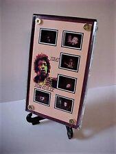 Jimi Hendrix  Documentary 6 Film Frame Display with blue zipper pouch
