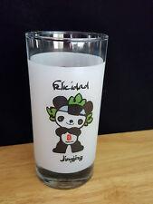 Collectable  Official Olympic Glassware Coca Cola Beijing 2008 Felicidad Jingjin