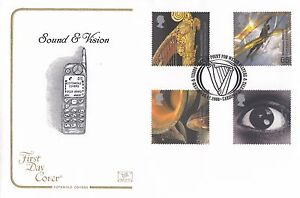 (92946) CLEARANCE GB Cotswold FDC Sound & Vision Cardiff Culture 2000