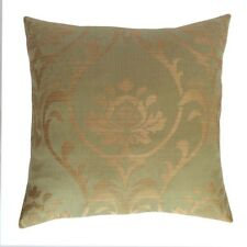 "Linen Lotus Pattern 18""x18"" Mint Decorative/Throw Pillow Case/Cushion Cover"