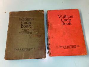 2 Vintage 1930's Watkins Cook Book, J.R. Watkins Co. Spiral Bound - Hard Cover
