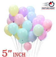 Pack of 50 Pastel Latex Balloons Macaron Candy Many Colour Party 5'' Balloons