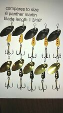 10, size 6, 1/4 oz, FISHGRUB SPINNERS 5 yellow Martin, 5 black panther