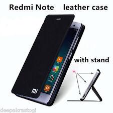 Premium Leather Flip Cover Case For Xiaomi Redmi Note prime