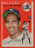 1954 Topps #17 Phil Rizzuto VG-VGEX+ WRINKLE HOF New York Yankees FREE SHIPPING
