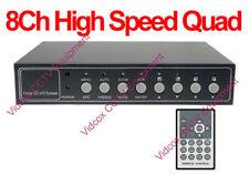 8Ch Video +4 Audio CCTV Quad Multiplexer Video Splitter for CCTV Security Camera