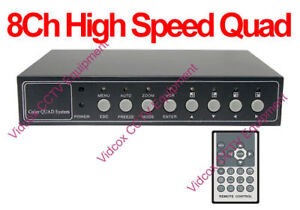 8 Channel +4 Audio High-Speed Digital Color Quad for CCTV Security Camera System