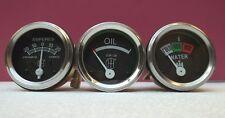 """Farmall A  B  Super A Super A1 Gauges SET Temp 24"""" gauge Oil Screwin  Ammeter"""