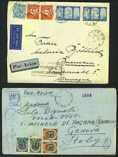ALGERIA 1935-40's THREE AIR MAIL COVERS ORAN-R.P. TO GERMANY VIA PARIS & TO GEN