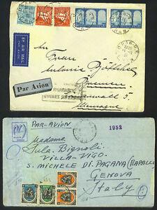 ALGERIA 1935-40's THREE AIR MAIL COVERS ORAN-R.P. TO GERMANY VIA PARIS & to GEN
