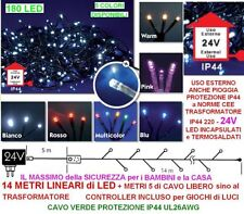 SERIE 180 LED Mt.14+5 RED CHRISTMAS CABLE GREEN OUTDOOR HIGH SECURITY IP44 24V