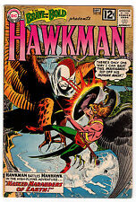 BRAVE AND THE BOLD #43 5.5 OFF-WHITE TO WHITE PAGES SILVER AGE HAWKMAN