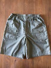 Boy Scouts of America Official Men's Uniform Canvas Cargo Green Shorts Size 36