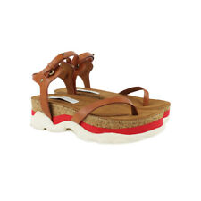 Stella McCartney Tan Faux-Leather Canyon Thong Sandals IT35 UK2