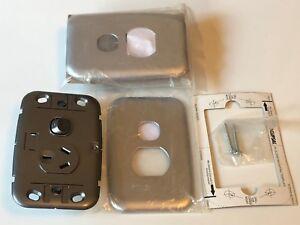 Clipsal SL2015 C2015 Single Switch Socket Outlet 10A 250V Eclipse Silver x2