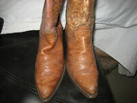DURANGO Mens Size 8 D (M) Brown Leather Cowboy Western Pull-On
