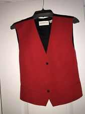 Liz Claiborne Womens Red and Black  Sleeveless Vest Size 10 100% Wool