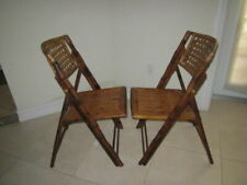 Mid Century Tortoise  Bamboo   Cane    Folding  Chairs Shipping not Included