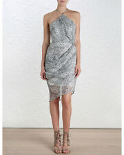 Zimmermann Drape Back Cocktail Dress | Silk Rosewater Konya | Size 2 | $550 RRP