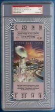 Super Bowl XXVI 1992 Redskins Bills Mark Rypien  Full Ticket PSA 9