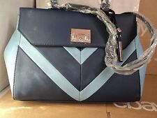 AUTHENTIC GUESS FIRESIDE BLUE/MULTI SATCHEL SHOULDER HANDBAG PURSE BAG NEW