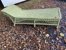 Antique Wicker Chaise Lounge All Reed 1930's