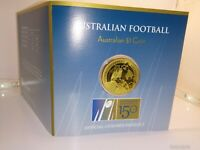 2008 $1 UNC Coin 150 Years Australian Football in RAM Card P Mintmark