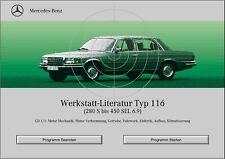 Mercedes Benz W116 WIS Reparaturanleitung alle Modelle auf CD
