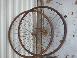 Antique  Bicycle Balloon Tire rims with Morrow rear hub