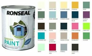 Ronseal Outdoor Garden Paint - For Exterior All Surface - All Colours - All Size