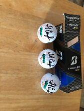 PGA FRED COUPLES HAND SIGNED AUTOGRAPHED BRAND NEW BRIDGESTONE 3GOLF BALLS.