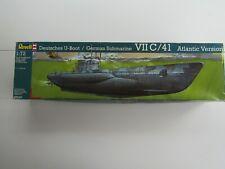 Deutsches U-Boot VIIC/41 Atlantic Version Revell 05045- 1:72 - 93,4cm- Gebraucht