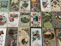 ~Lot of 25~ Pretty ~Flowers & Scenes~Vintage Floral Greetings Postcards-a-581