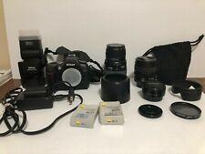 Nikon D70s 6.1MP Digital SLR Camera - Black,kit plus extra lenses, flash & pack