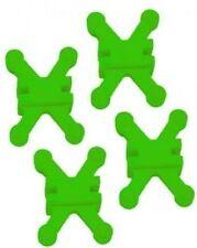 """BowJax Revelation Split Limb Dampener fits 11/16"""" Hoyt/Bowtech - Flo Green, 4 Pk"""