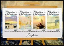 CENTRAL AFRICA  2017 LIGHTHOUSE PAINTINGS SHEET MINT NH