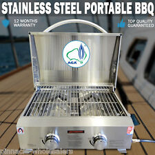 NEW Euro-Grand MARINE BBQ Portable Boat Gas Barbeque Stainless Steel Caravan