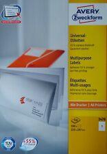 AVERY Zweckform 3478 Etiketten starke Klebkraft 210 x 297 mm Menge nach Auswahl