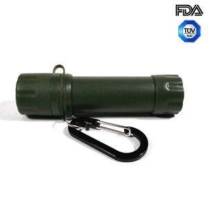 Army Wasserfilter Straw Outdoor Trinkwasser Aufbereitung 1200L Flaschenadapter